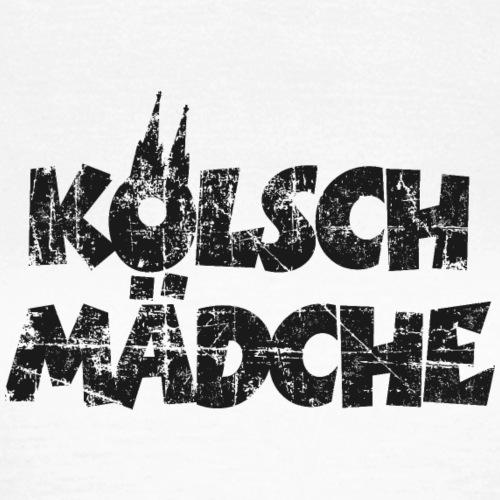 Kölsch Mädche (Vintage Schwarz) Mädchen aus Köln