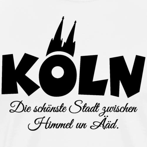 Köln Stadt zwischen Himmel un Ääd (Schwarz)