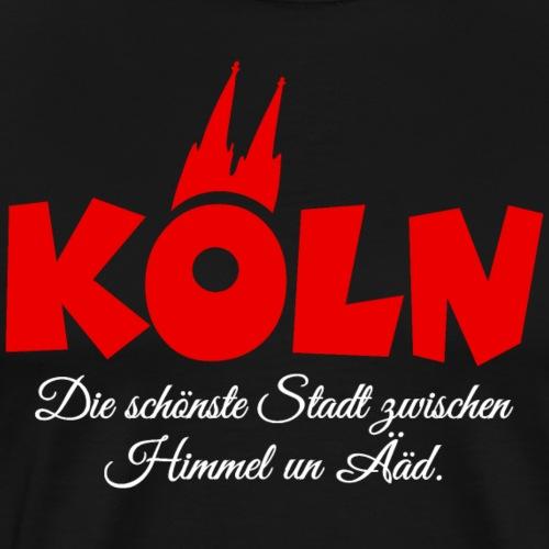 Köln zwischen Himmel un Ääd (Rot/Weiß)