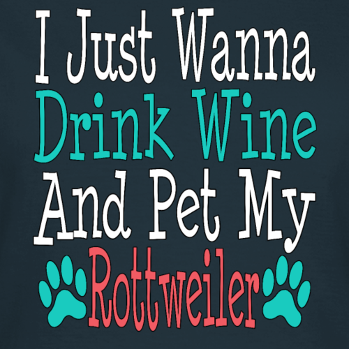 Cadeau d'amateur de vin drôle de papa de maman de chien de Rottweiler
