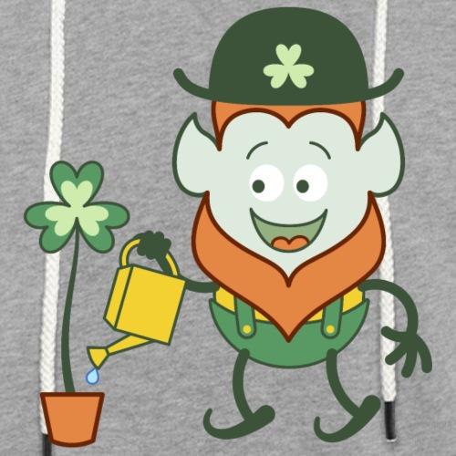St Patrick's Day Leprechaun watering clover