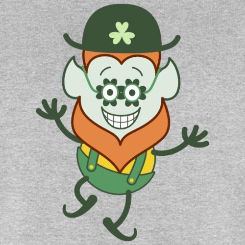 St Patrick's Day Leprechaun wearing clover glasses