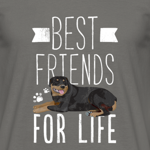 Rottweiler meilleurs amis pour la vie T-shirt drôle