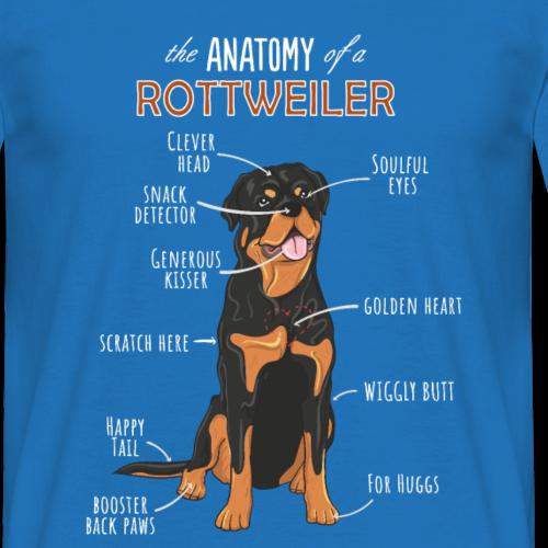 L'anatomie d'une chemise de chien drôle de T-shirt de Rottweiler