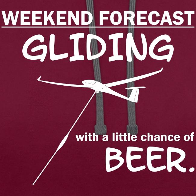 Wochenende Vorhersage - Segelflieger T-Shirt