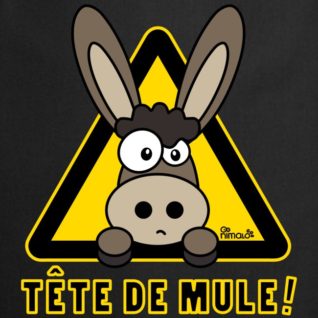 Tablier de cuisine Âne, Tête de Mule, Tetu