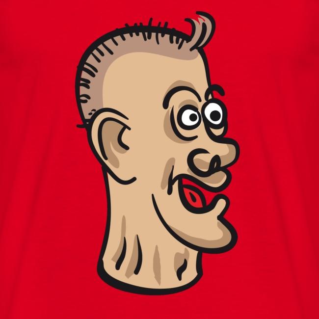 Karikatuur op een shirt
