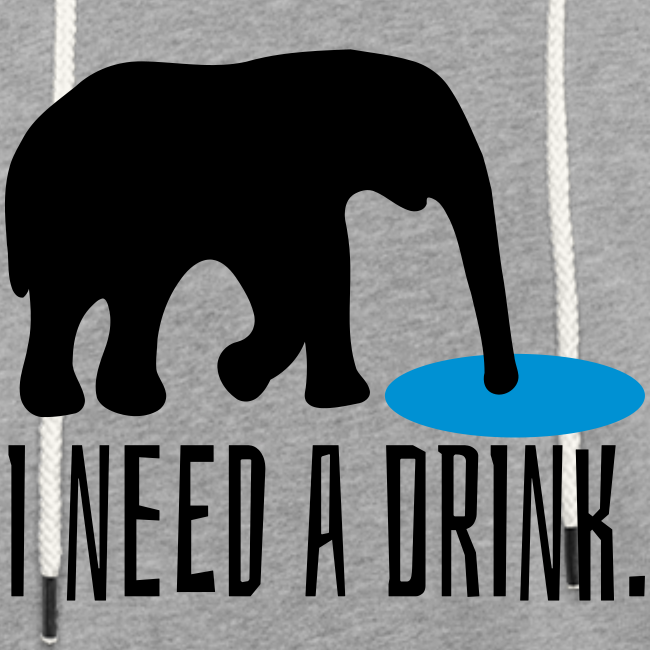 I need a drink Trinken Spruch Unisex Hoodie