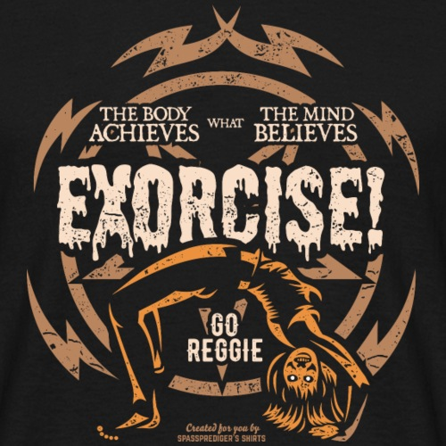 Funny Gym T Shirt Exorcise! für Horror Film Fans