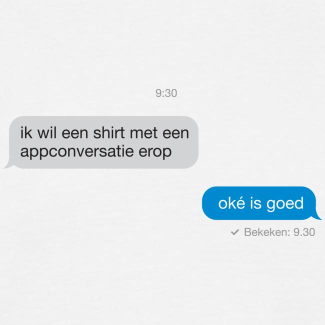 Appconversatie mannen t-shirt