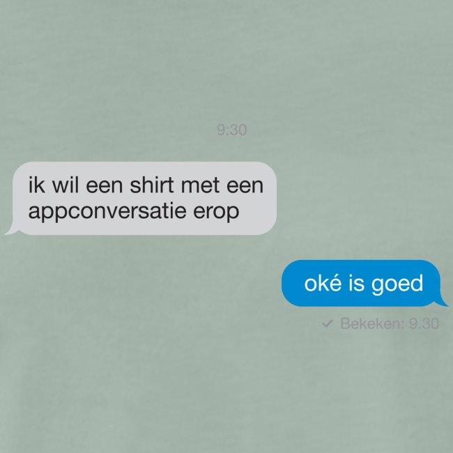 Appconversatie mannen premium t-shirt