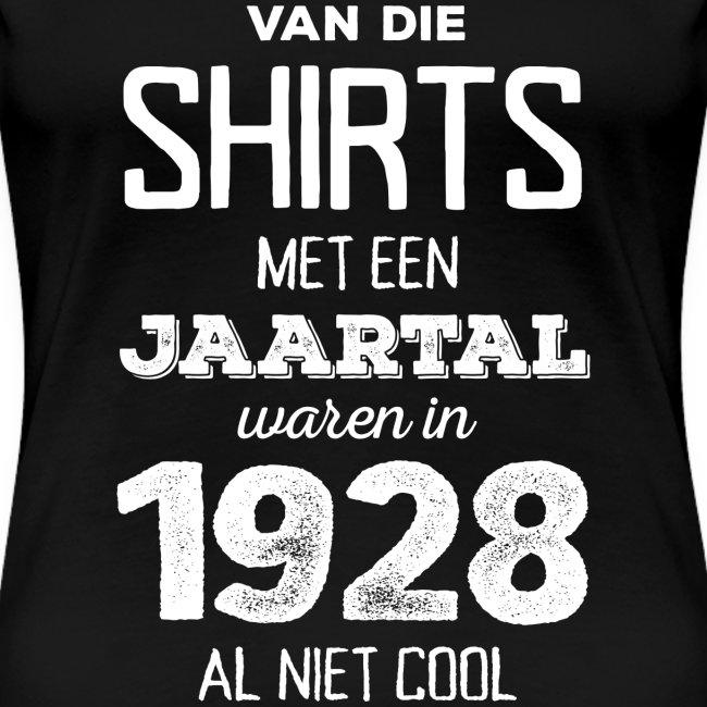 Shirt met een jaartal vrouwen t-shirt premium
