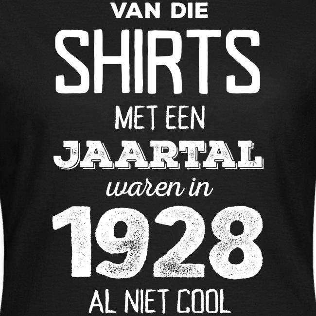 Shirt met een jaartal vrouwen t-shirt