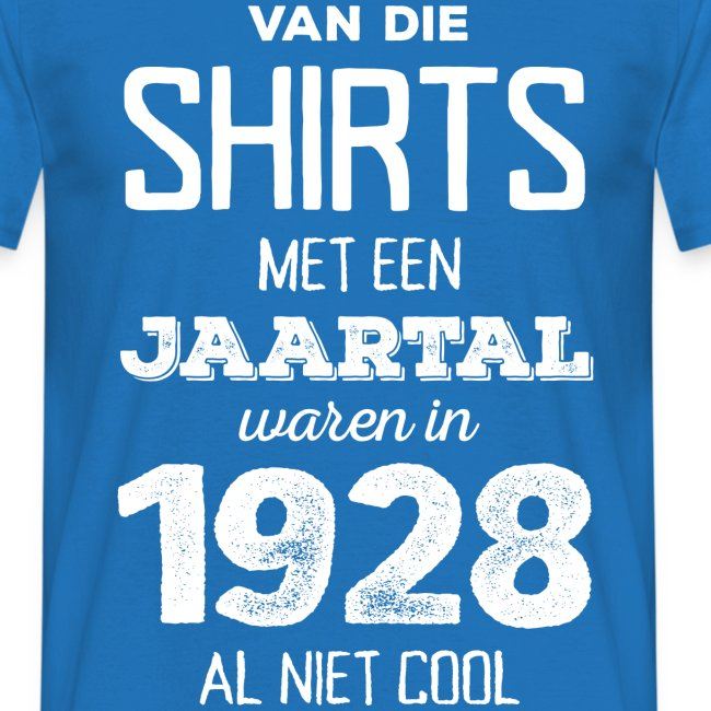 Shirt met een jaartal mannen t-shirt