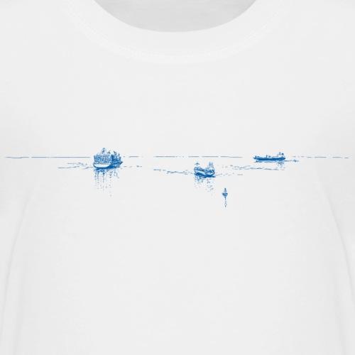 3 blaue Schiffe