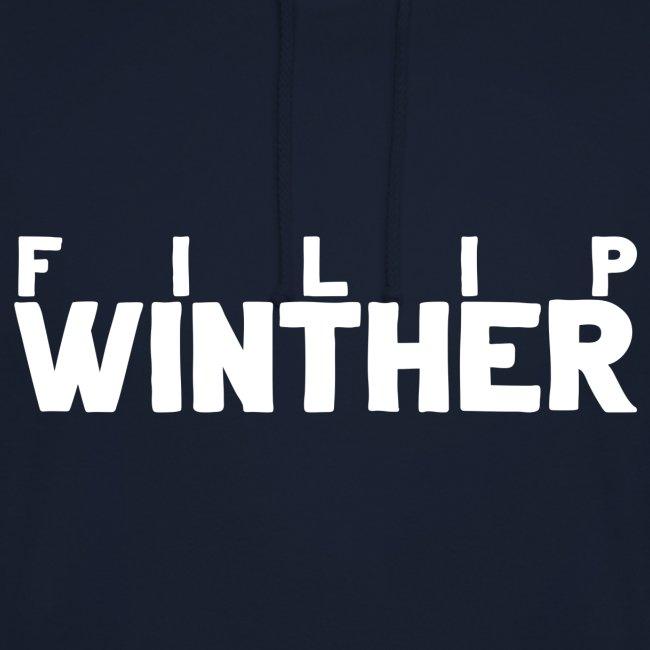 Hoodie Filip Winther - Vit text
