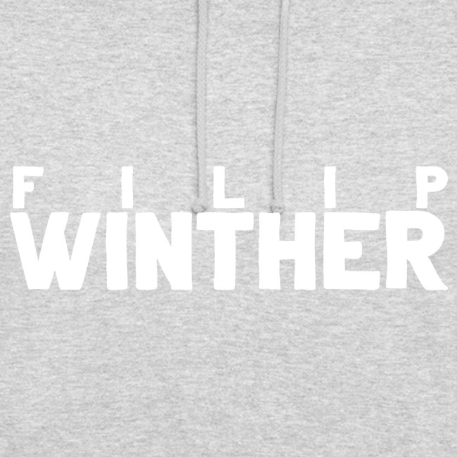 Hoodie Filip Winther - Vit text