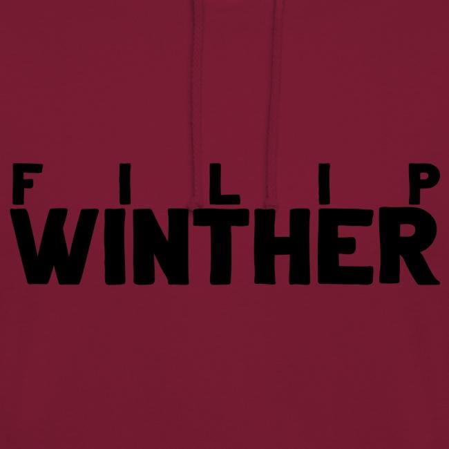 Hoodie Filip Winther - Svart text
