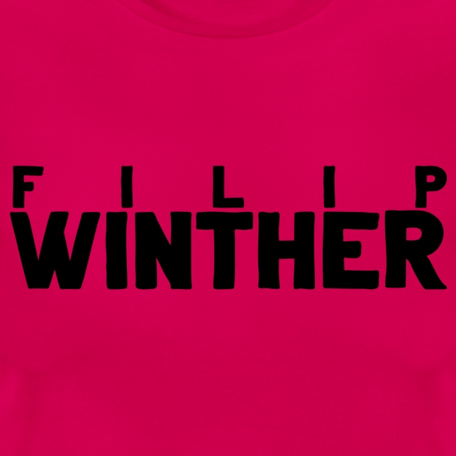 T-shirt Dam Filip Winther - Svart text