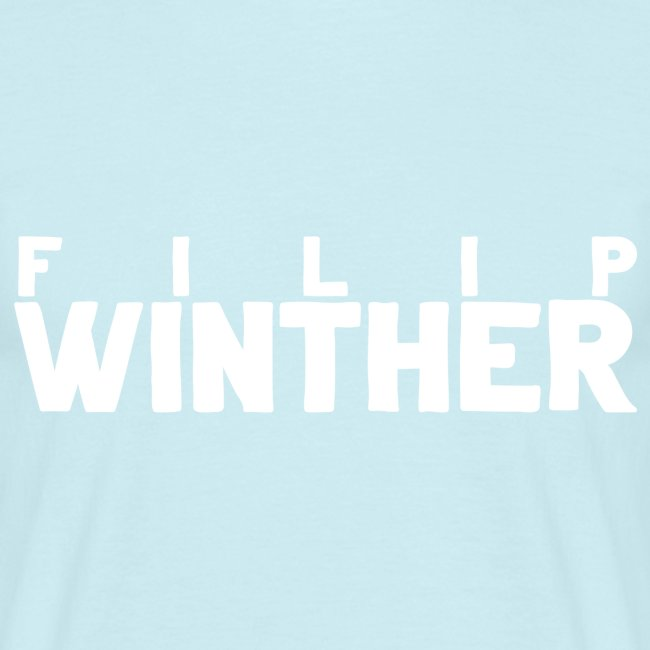 T-shirt Herr Filip Winther - Vit text