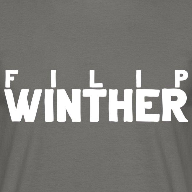 T-shirt Herr Filip Winther - Vit text