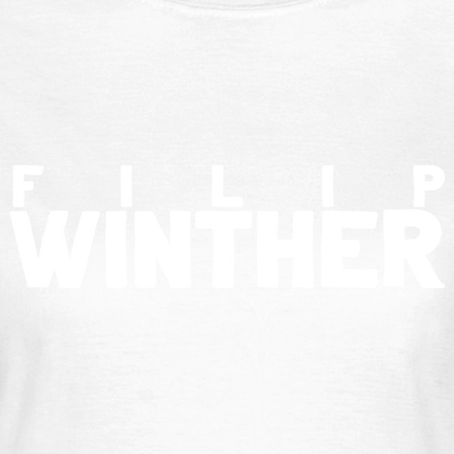 T-shirt Dam Filip Winther - Vit text