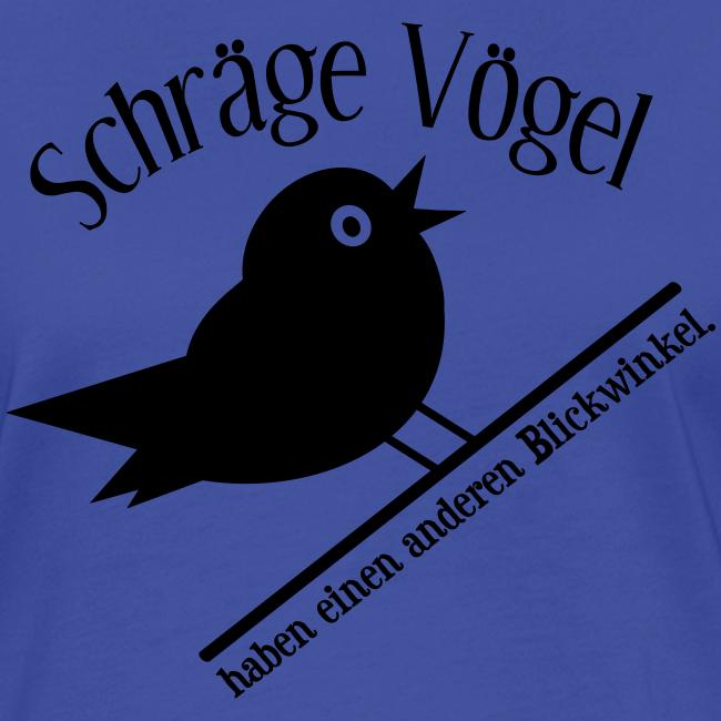 Schräger Vogel Spruch Retro T-Shirt