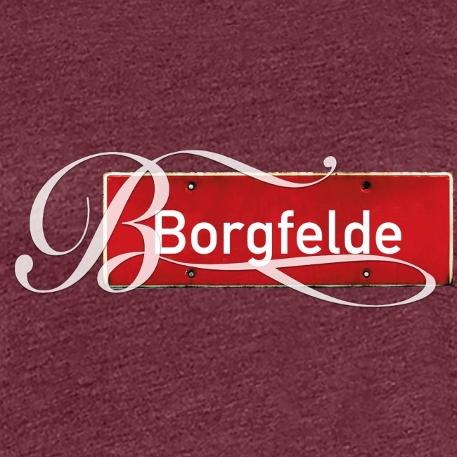 """Borgfelde (Hamburg-Mitte): Antikes Orssschild mit Tattoo """"B"""""""
