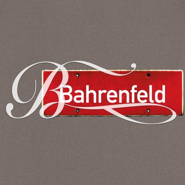 Bahrenfeld-Schürze Rotes Orssschild mit Tattoo-B