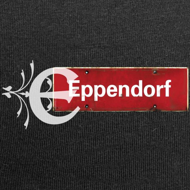 """Eppendorf (Hamburg): Antikes Ortsschild mit Tattoo """"B"""""""