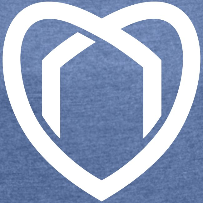 Girlie Herz T-Shirt (blau)