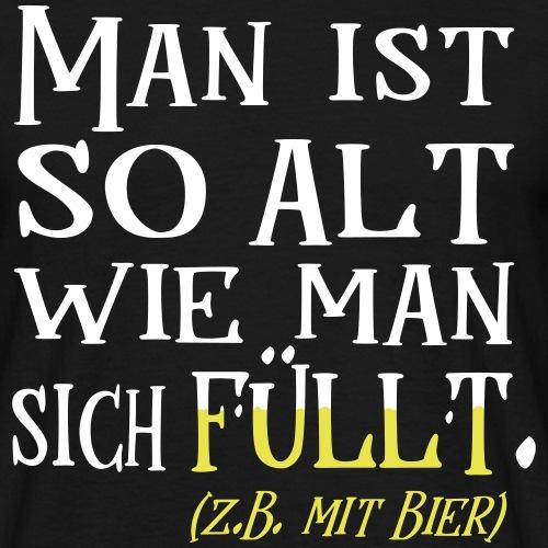 Alt Geburtstag Biertrinker Bier Spruch Geschenk