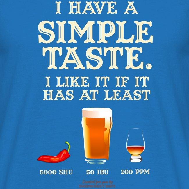 Whisky, Chili, Bier