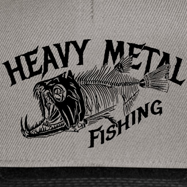 Snapback Cap Heavy Metal Fishing