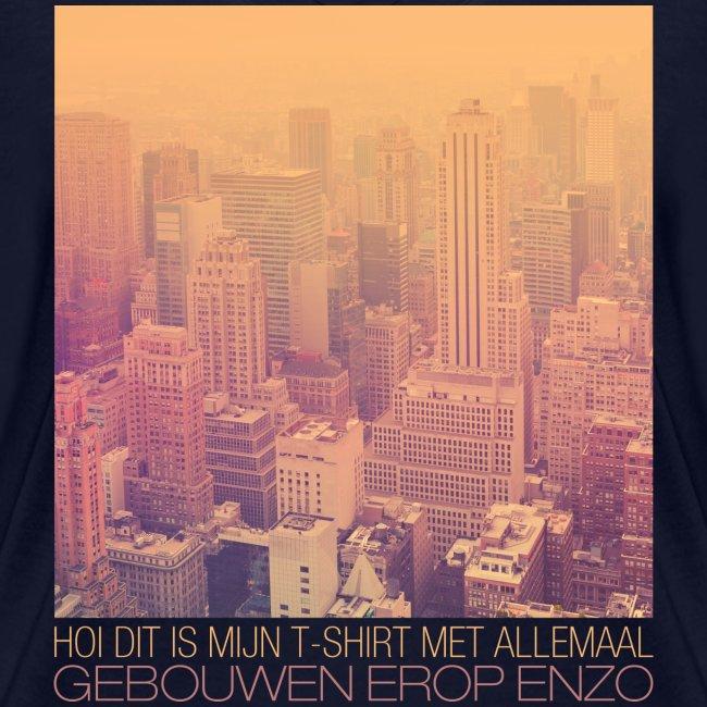 Gebouwen enzo vrouwen t-shirt v-hals bio