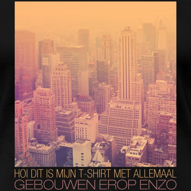 Gebouwen enzo vrouwen premium t-shirt