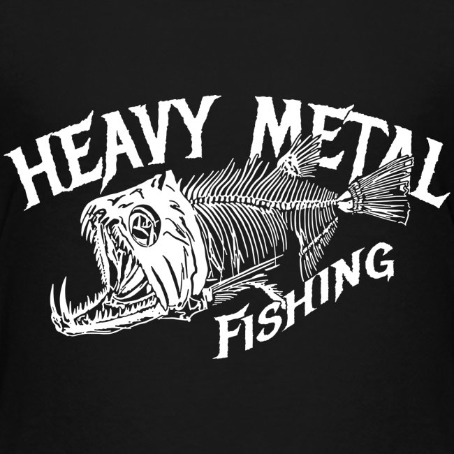 Kinder Premium Angler T-Shirt Heavy Metal Fishing
