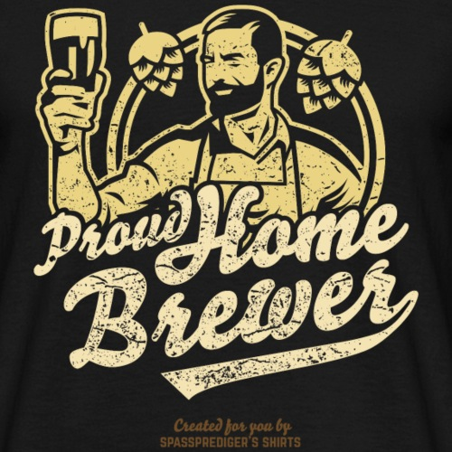 Craft Beer T Shirt Design Proud Home Brewer