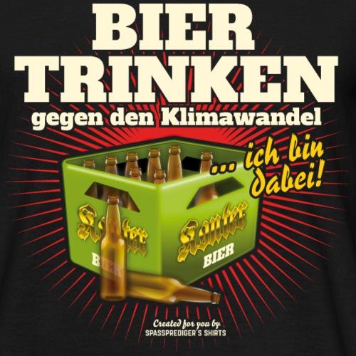 Bier T Shirt Trinken gegen den Klimawandel