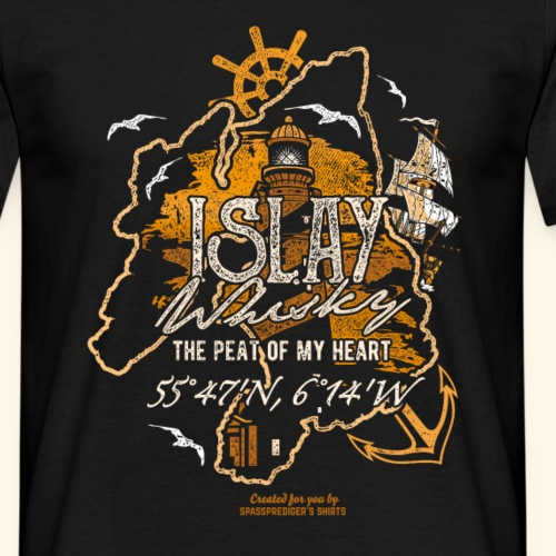 Islay Whisky T Shirt Peat of my Heart