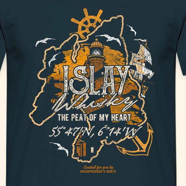 Islay Whisky T Shirt Peat of my Heart