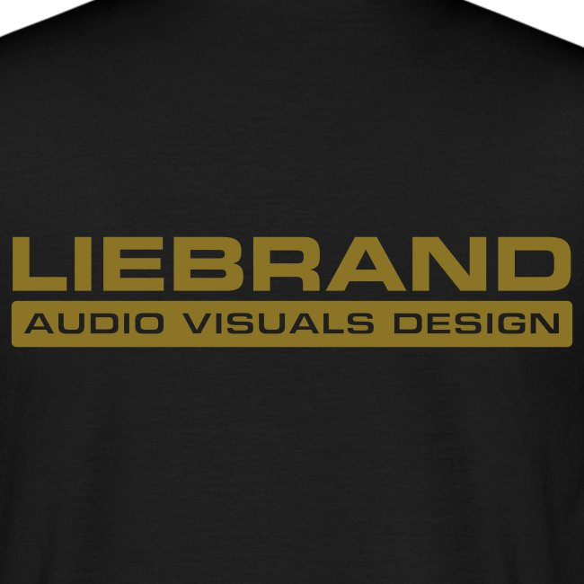 Liebrand Audio Visuals Gold on Black Comfort T