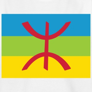 Wit Amazigh Flag Clean Kinderkleding - Teenager T-shirt