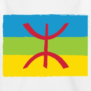 Wit Amazigh Flag Kinderkleding - Teenager T-shirt