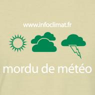 Motif ~ T-Shirt mordu de météo homme