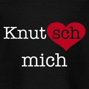 Schwarz Knutsch mich Kinder - Teenager T-Shirt