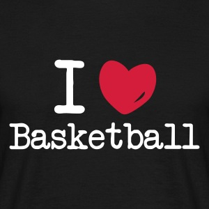 Sort i love basketball T-shirts (kortærmet) - Herre-T-shirt