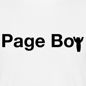 White page boy  T-Shirts - Men's T-Shirt