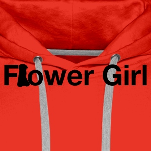 Red flower girl Men's Longsleeves - Men's Premium Hoodie