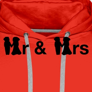 Red MrMrs Men's Longsleeves - Men's Premium Hoodie